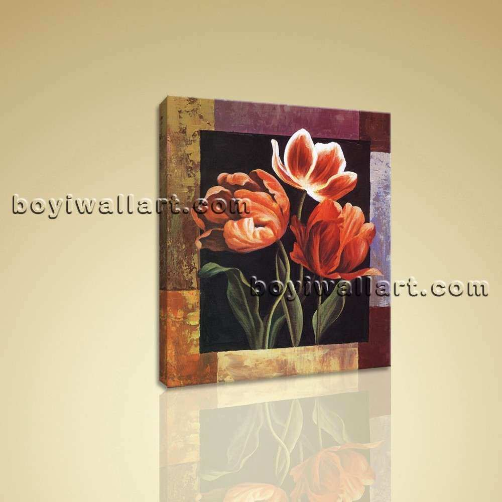 Contemporary Abstract Floral Canvas Print Flower Wall Art