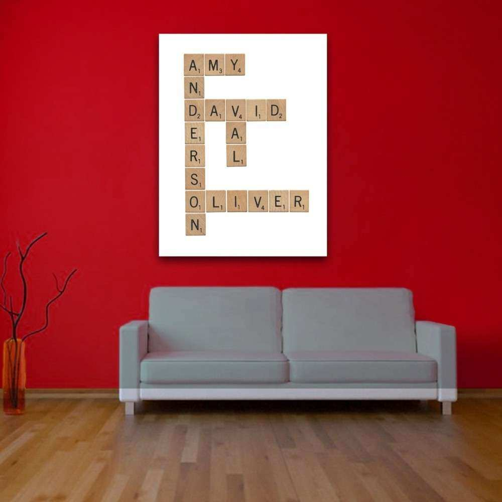 Family Scrabble Personalised Wall Art