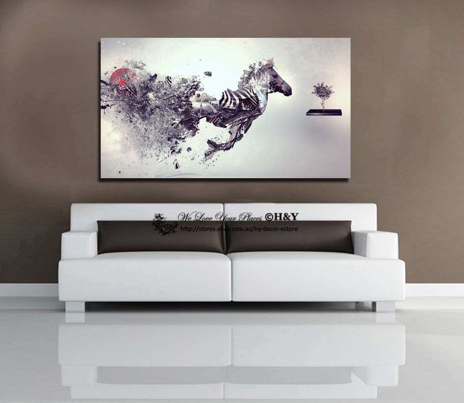 40x70x3cm Abstract Fantasy Zebra Stretched Canvas Prints
