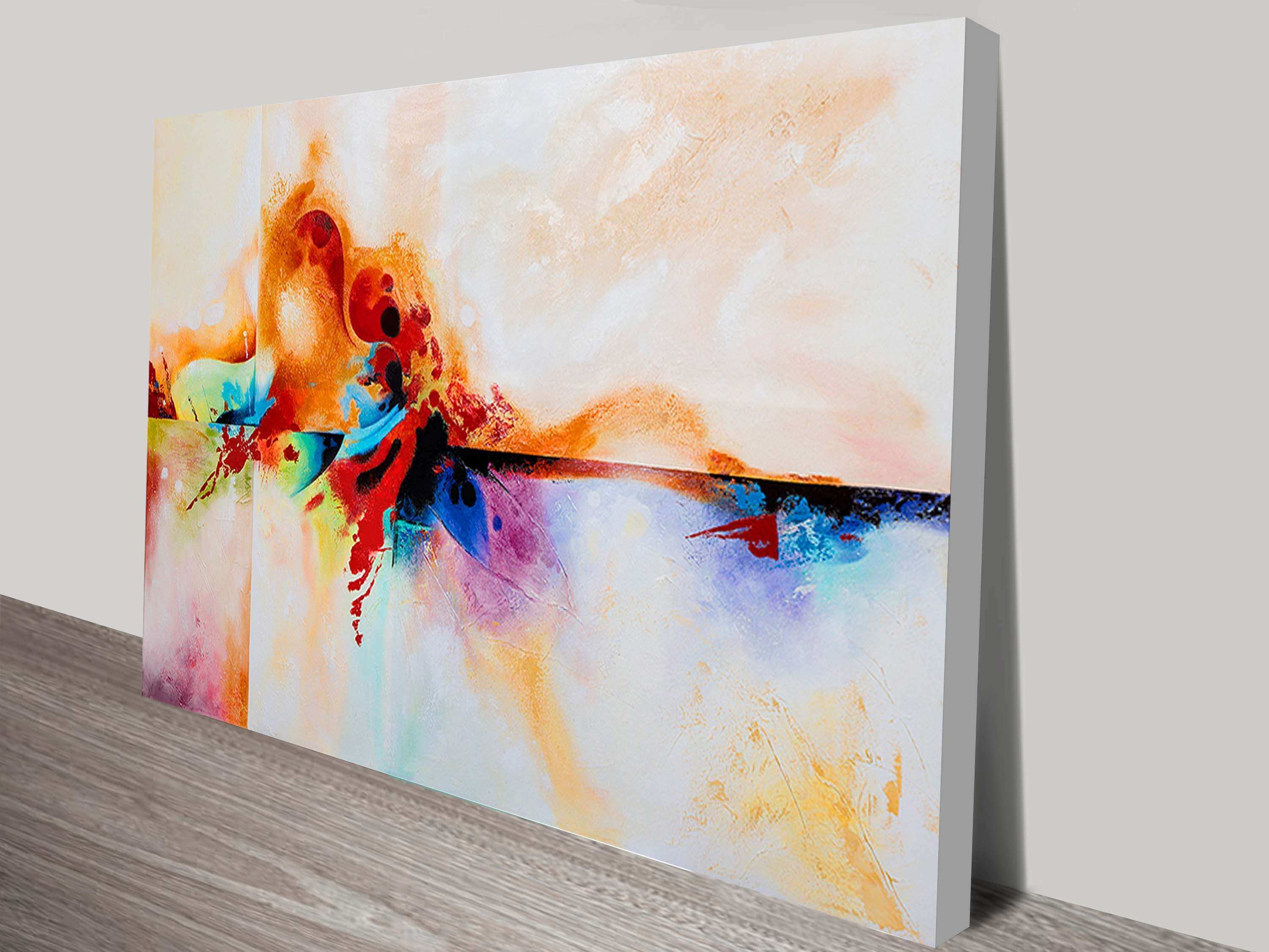 Genesis Abstract Painting Print on Canvas Canvas Prints