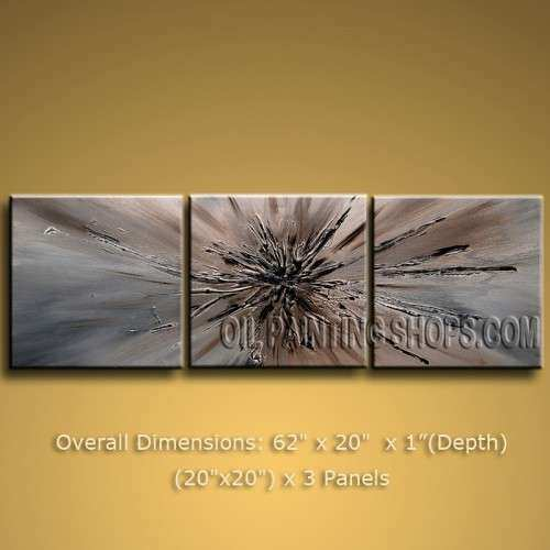 Modern Abstract Oil Paintings Canvas Wall Art Framed