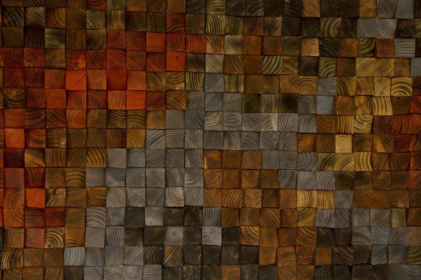 Rustic Wood Art wood wall sculpture abstract painting on