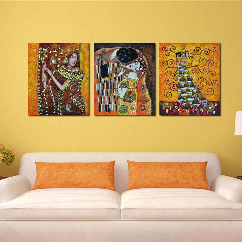 Wall Art Prints Beautiful Bedroom Famous Artist Art Deco Kiss ...