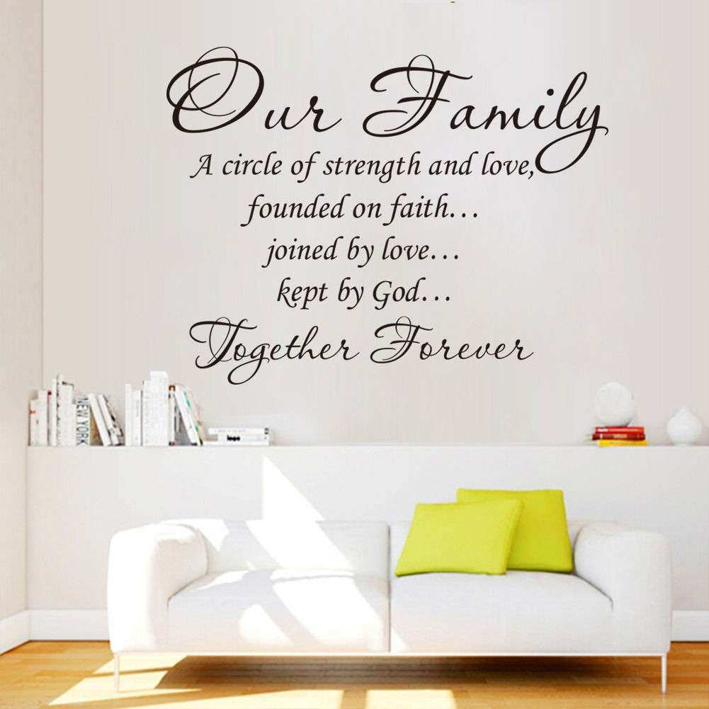 Wall Art Sayings Inspirational Wall Art Designs Word Wall Art Our Family To  Her