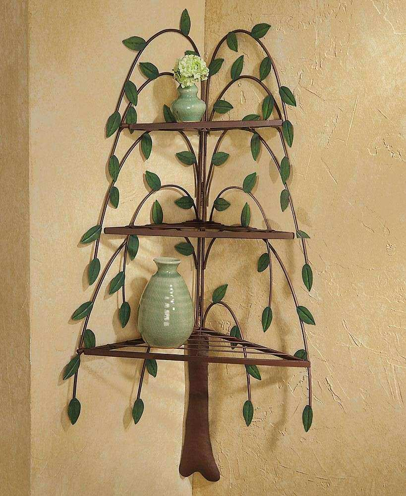 Wall Decor Shelf Beautiful Home Decor Metal Weeping Willow Tree 3 ...