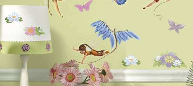 Wall Sticker Decor Lovely Disney Fairies with Tinkerbell Wall Decals ...