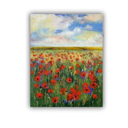 ArtWall ArtApeelz Poppies by Michael Creese Painting Print