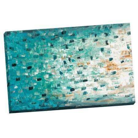 "Portfolio Canvas Decor ""Transitions in Teal"" by Jolina"