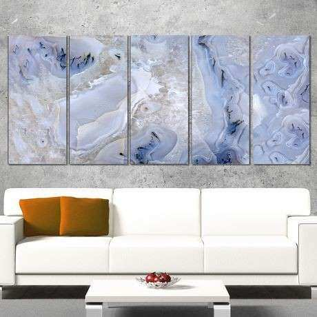 Design Art Agate Stone Background Abstract Canvas Wall Art