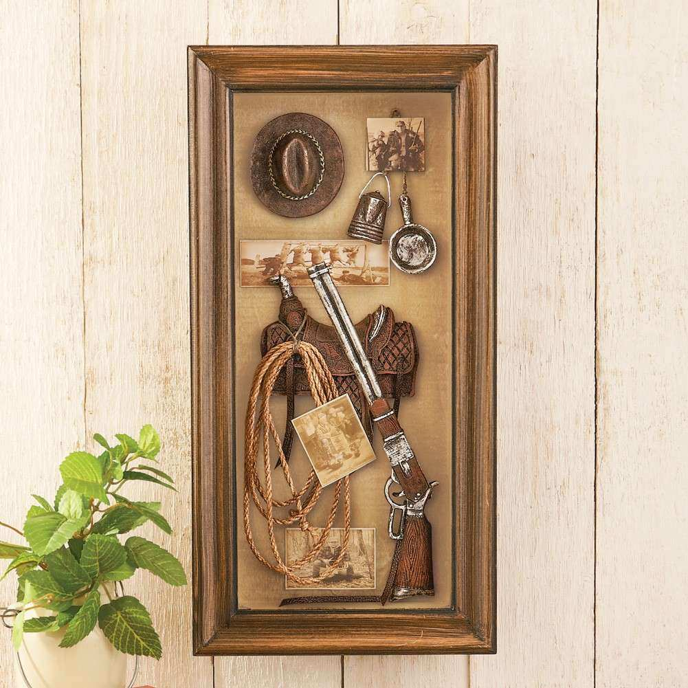 Western Wall Art New Western Themed Shadow Box Wall Art Saddle Rope Shot Gun