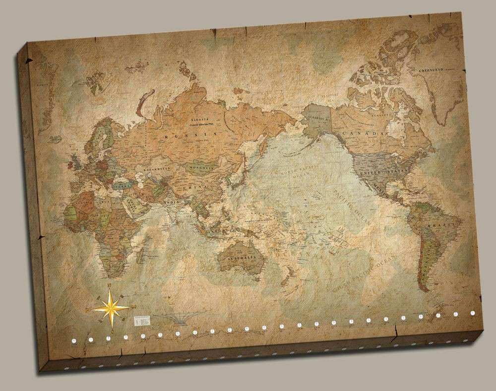 Canvas wall art australia world map framed art fresh world map world map canvas wall art elegant wall art canvas picture print antique old vintage world publicscrutiny Choice Image