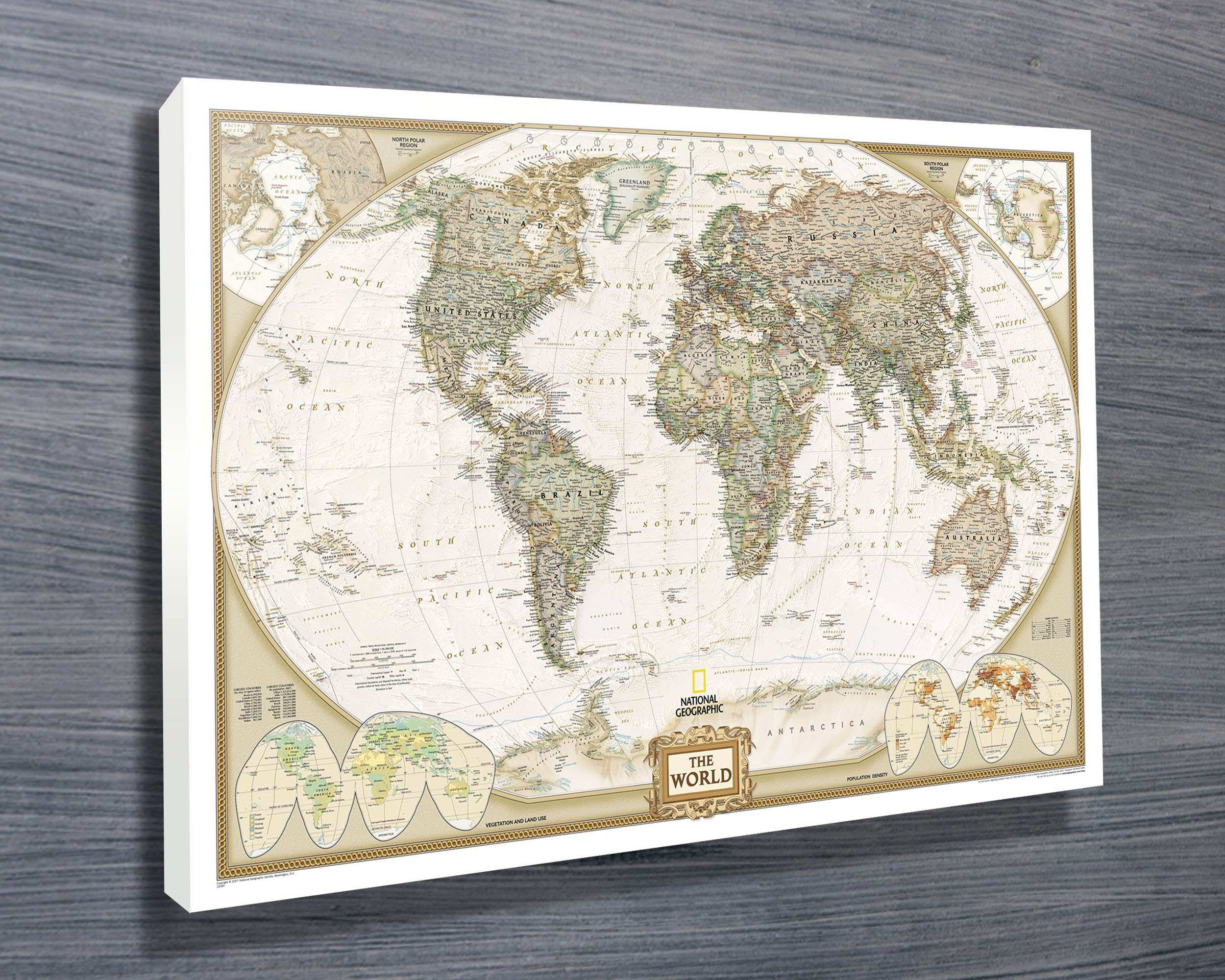 World map canvas wall art unique national geographic map canvas world map canvas wall art unique national geographic map canvas prints australia gumiabroncs Images
