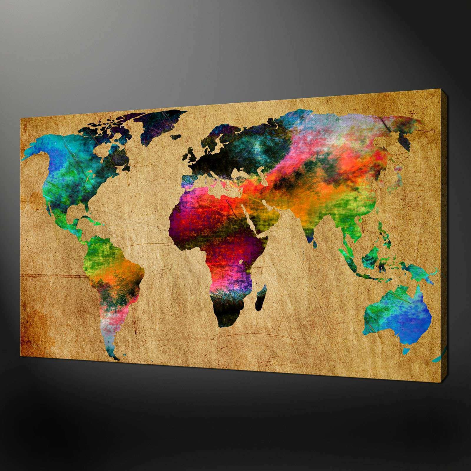 World map canvas wall art unique world map canvas wall art picture world map canvas wall art unique world map canvas wall art picture print gumiabroncs Image collections