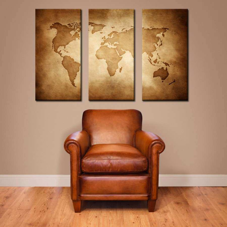 world map wall art canvas inspirational vintage world map canvas by anchorandvine on etsy