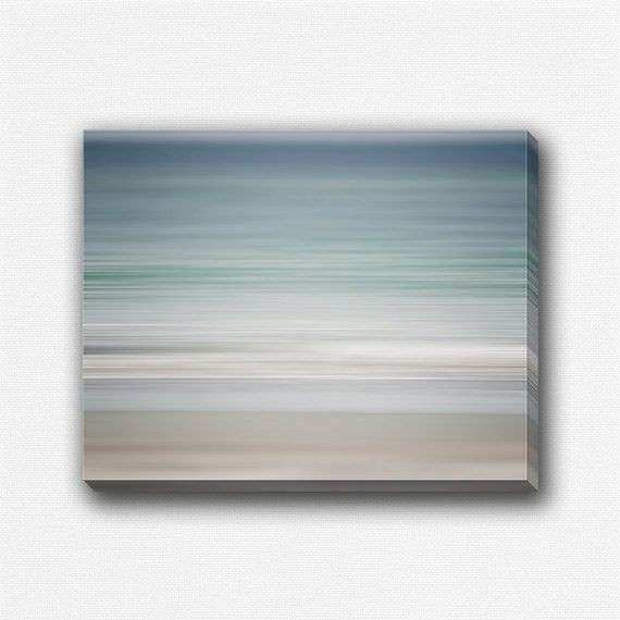 Abstract Beach Decor Nautical Blue Canvas Art Beach