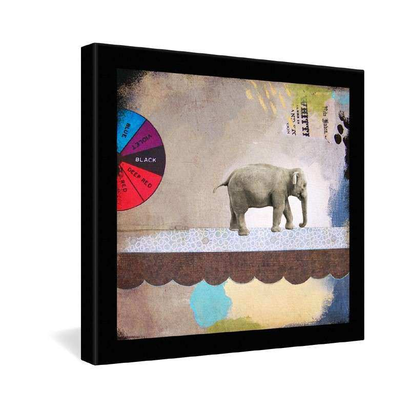District17 Abstract Circus Elephant Wrapped Canvas Art