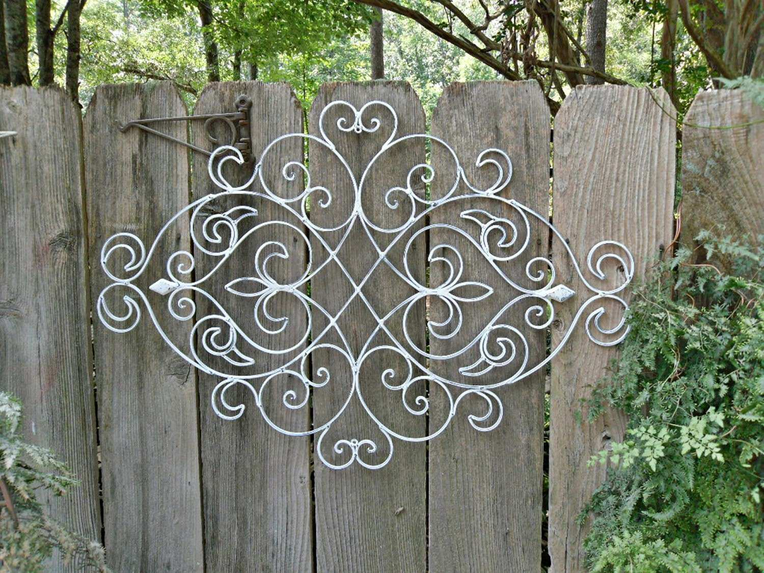 Outdoor Wall Art Wrought Iron Takuice