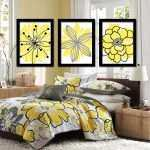 Yellow And Gray Canvas Wall Art Beautiful Wall Art Canvas Artwork Yellow Black Charcoal Gray Flower Of Yellow And Gray Canvas Wall Art
