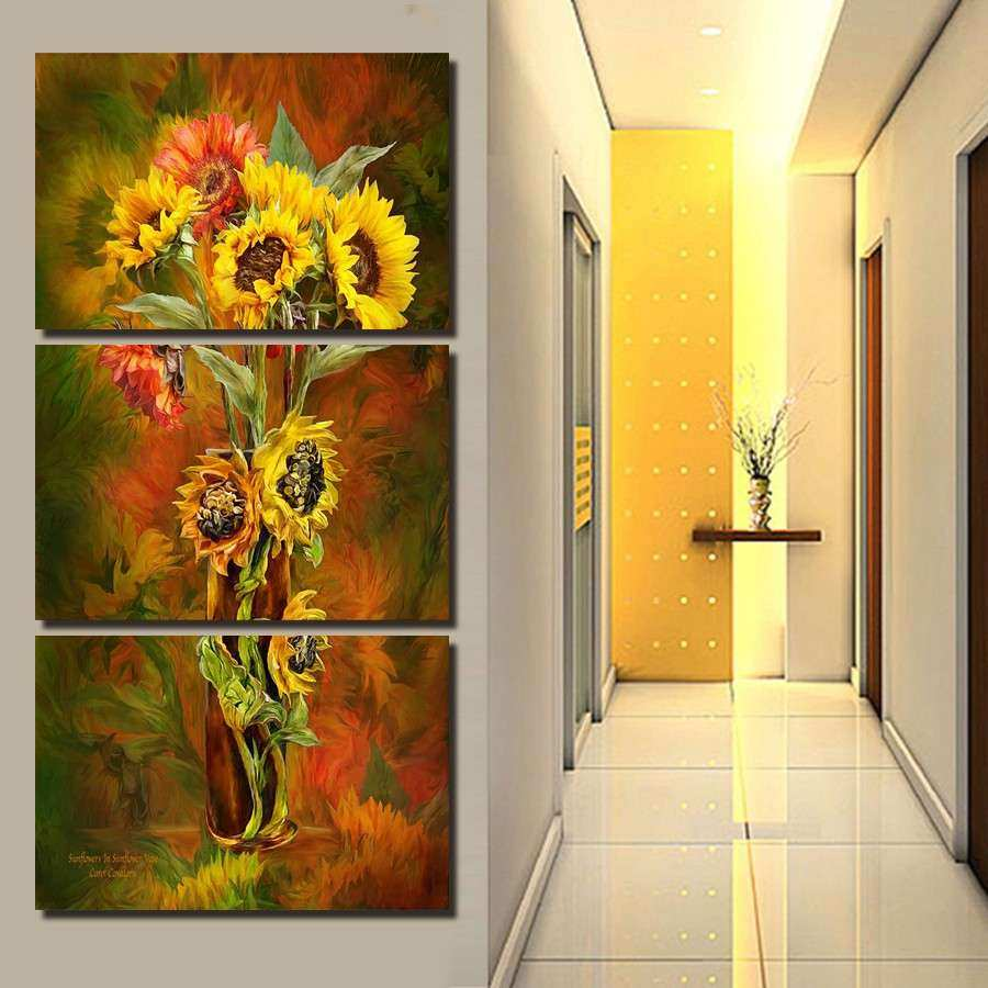 Yellow Canvas Wall Art Inspirational Aliexpress Buy 2017 Hot Sale 3 ...