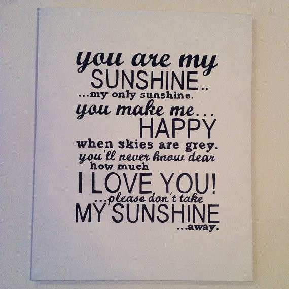 Items similar to You Are My Sunshine Hand Painted Canvas