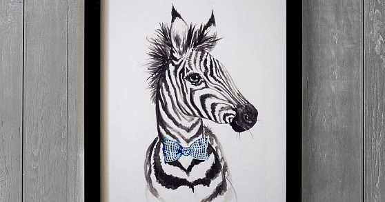 Zebra Wall Art Awesome Dapper Zebra Wall Art By Minted