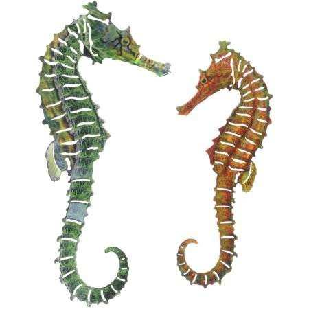 3D Seahorse 2 Piece Set Metal Wall Art By Next Innovations