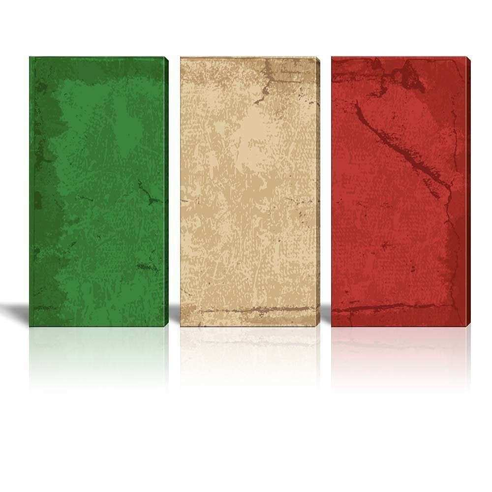 Canvas Prints Wall Art 3 Panel Vintage Style Italian