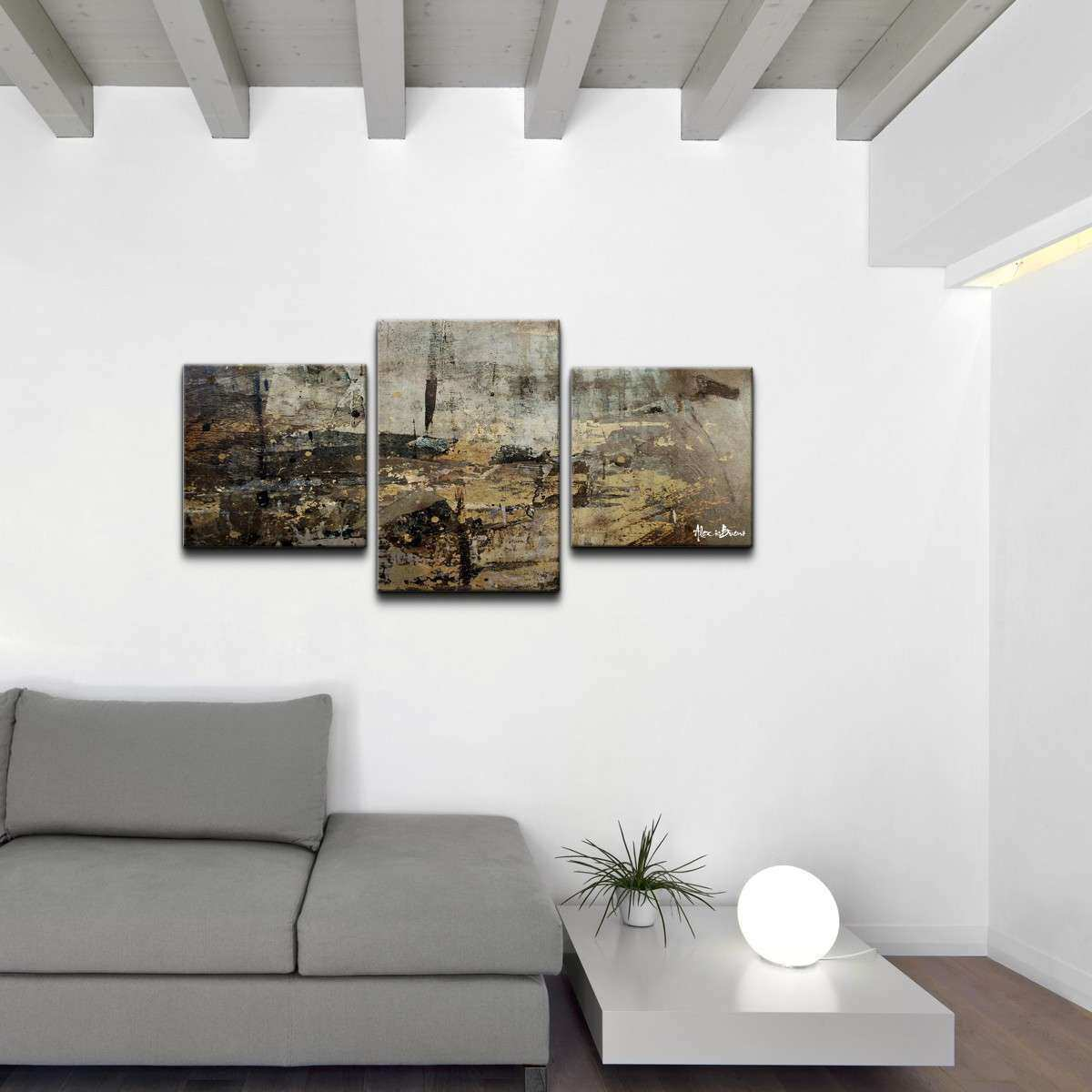 Ready2hangart Abstract 3 Piece Canvas Wall Art & Reviews