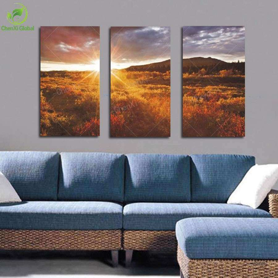 3 piece mordern canvas wall art oil painting picture