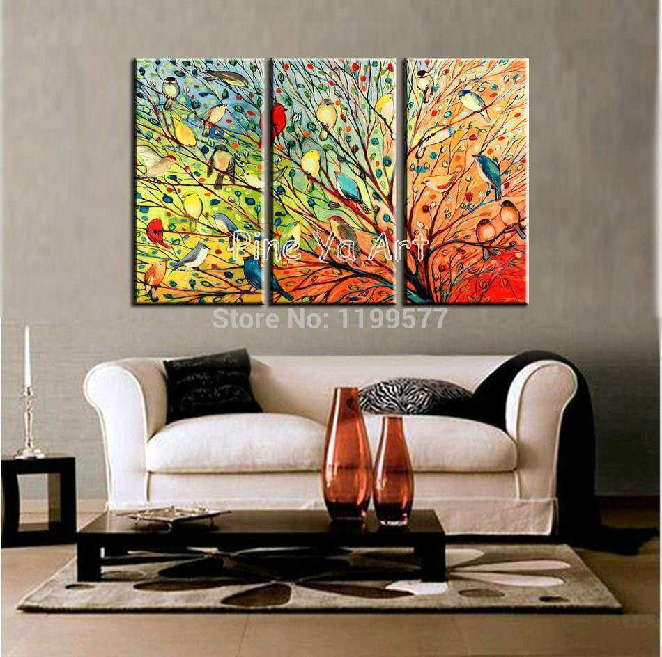 Three Piece Canvas Wall Art Takuice