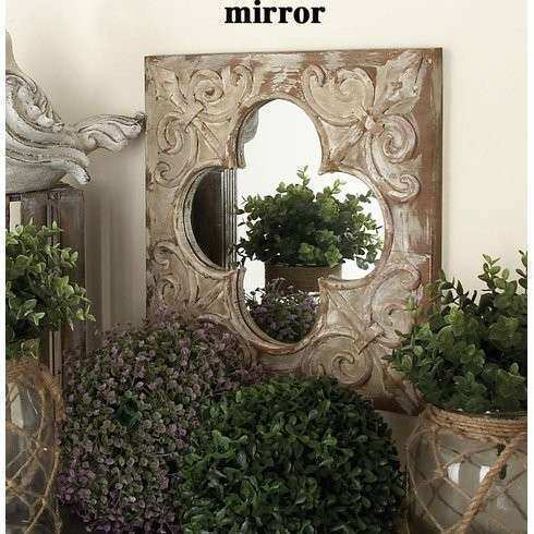 Cole & Grey 3 Piece Metal Wood and Mirror Wall Decor Set
