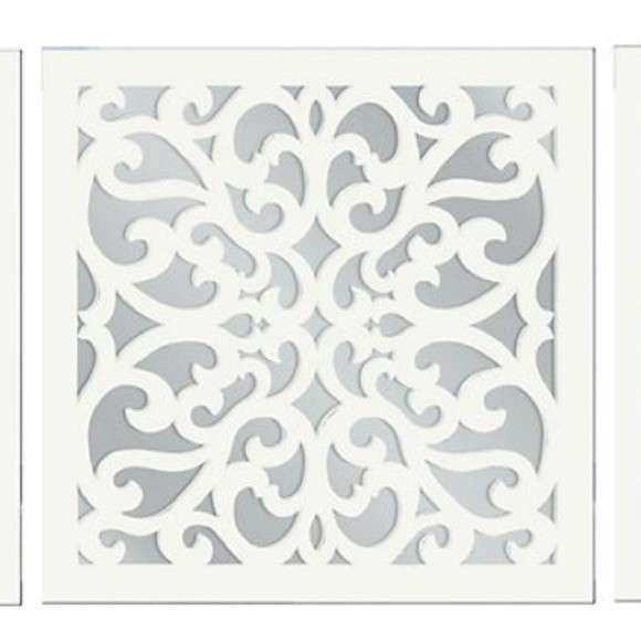 3 piece white vine mirror wall art set OS from Cindy s