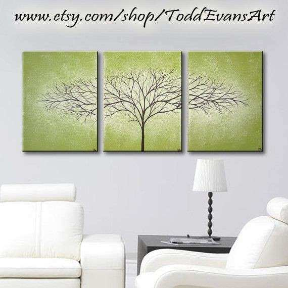 TODAY Olive Green 36 inches 3 piece Wall art set