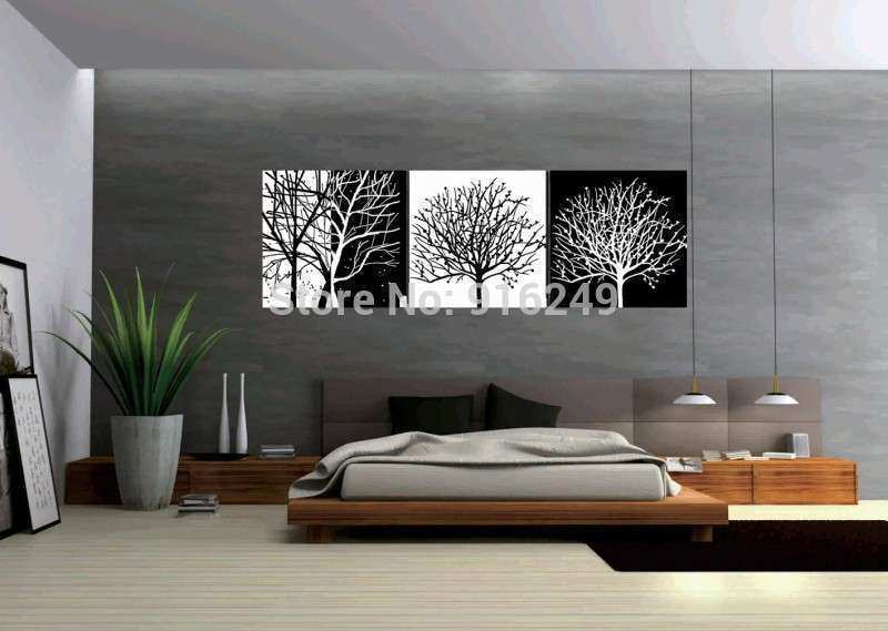 3 piece art oil canvas wall art tree picture canvas