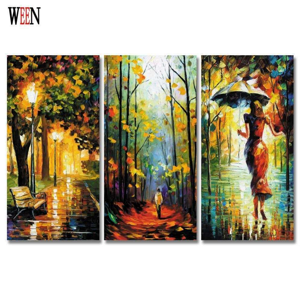 3 Piece Abstract Wall Canvas Art Painting For