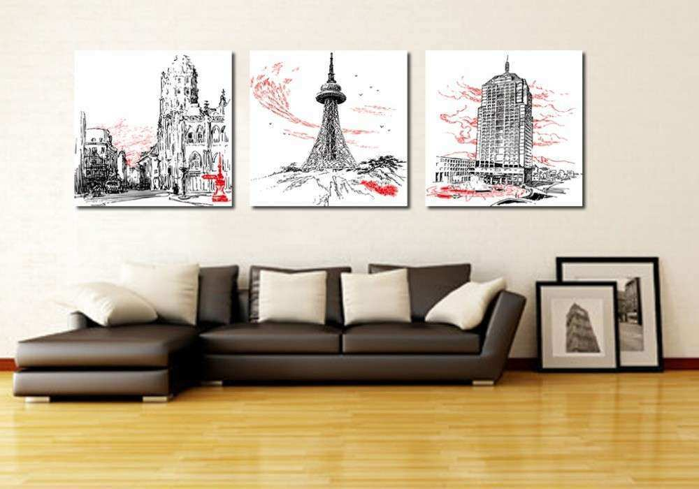 3 piece canvas art Home decoration wall art Abstract