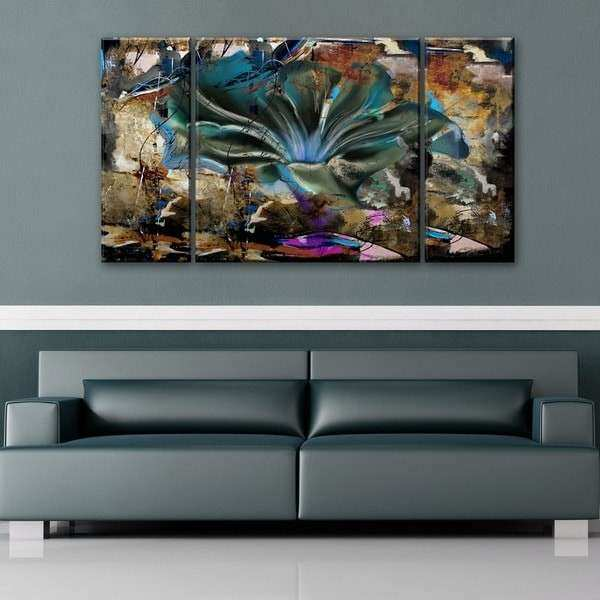 Ready2HangArt Painted Petals LVIII 3 piece Canvas Wall
