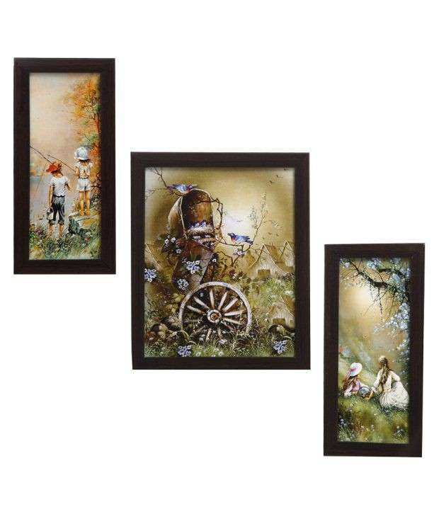 Indianara 3 Piece Set Framed Wall Art que