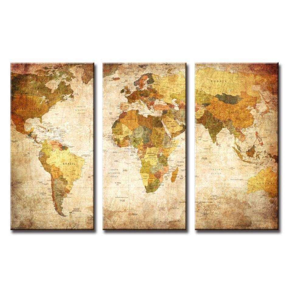 20 Best Collection of Painting World Map