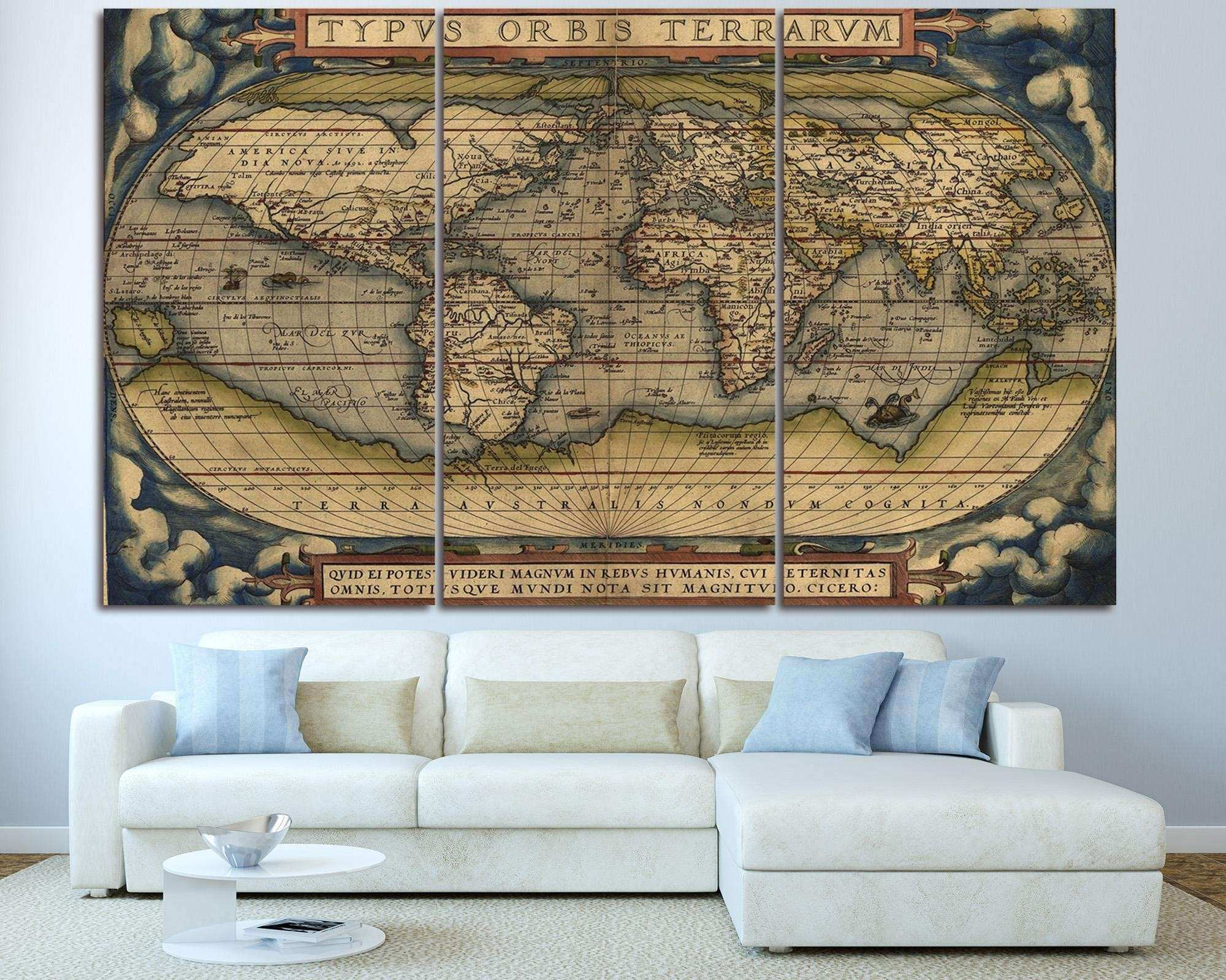 3 Piece Canvas World Map.Free Download Image Best Of 3 Piece World Map Wall Art 650 520 3