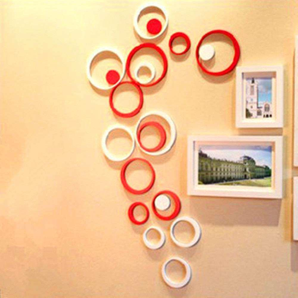 3d Wall Art New Fashion Decor 5 Circles Ring Indoor 3d Wall Art Home ...