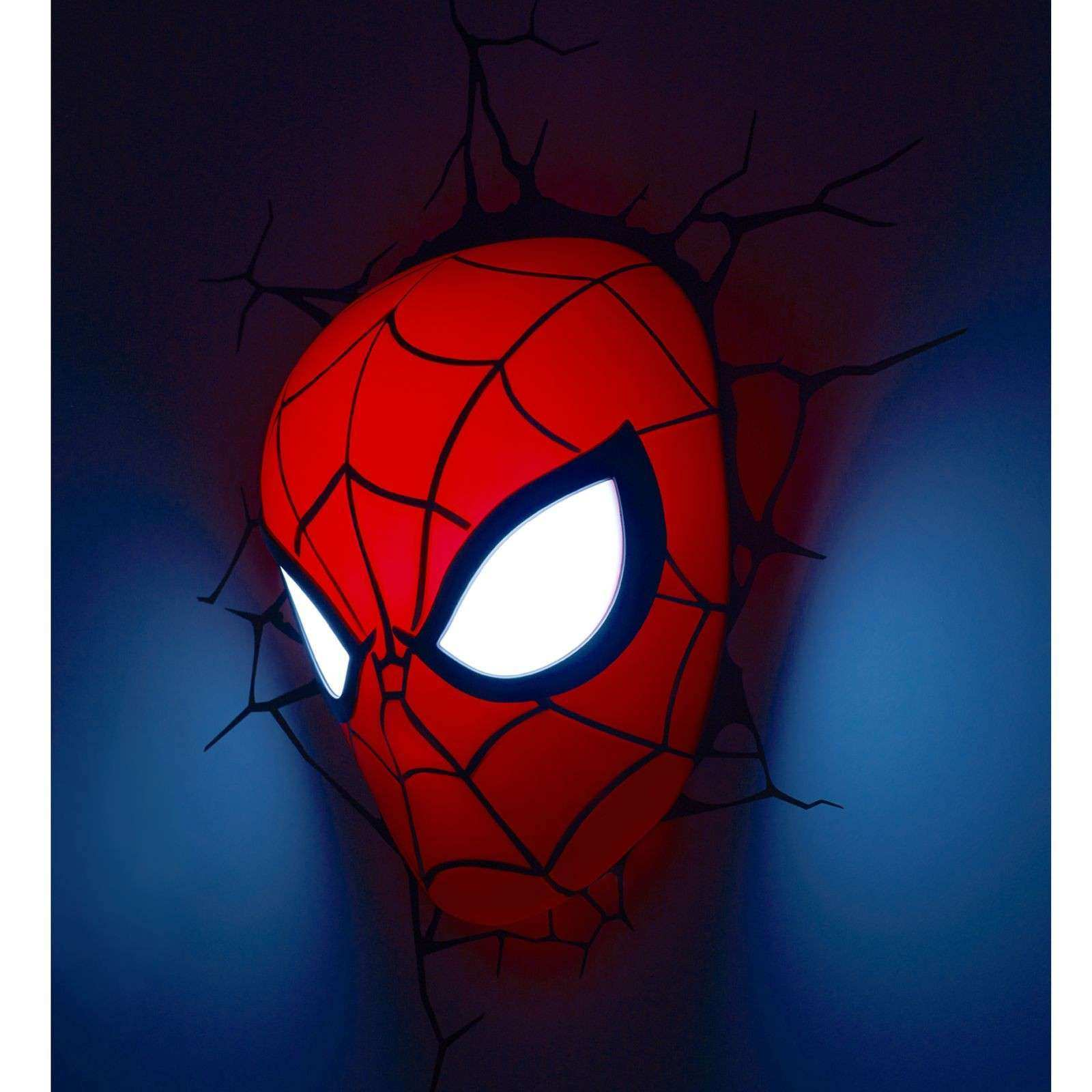 MARVEL SPIDERMAN 3D LED WALL LIGHT LAMP MASK STICKERS NEW