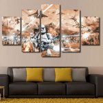 5 Panel Wall Art Awesome 5 Panel Quotstar Wars Battlefieldquot Canvas Wall Art Of 5 Panel Wall Art