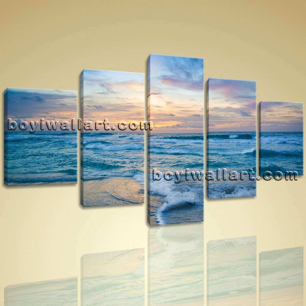 5 Panel Wall Art Custom Beautiful Stretched Canvas Print 5 Panels Contemporary Wall Art & 5 Panel Wall Art Custom Beautiful Stretched Canvas Print 5 Panels ...