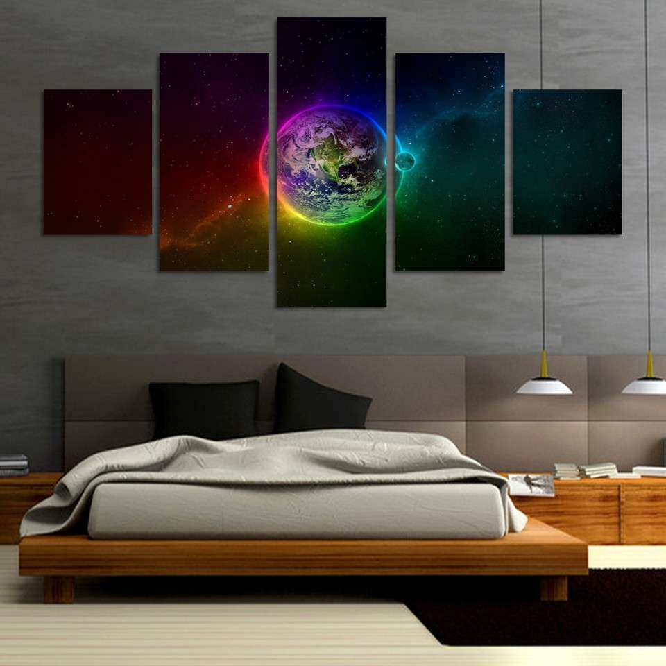 Wall Art Designs Modern Wall Art Unframed Printed Planets