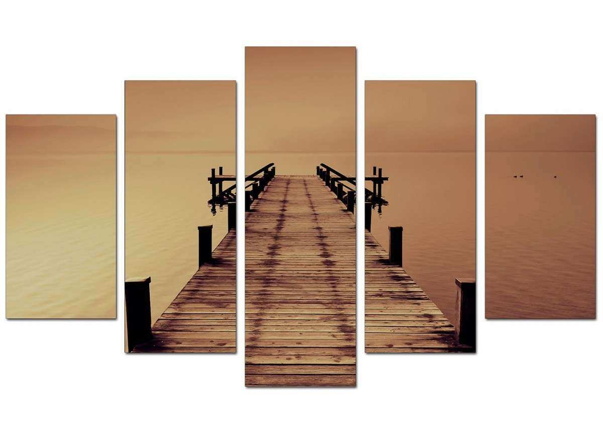 Brown 5 Piece Canvas Wall Art