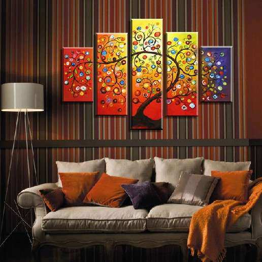 Hand Painted Art Set canvas Wall Picture Home Decoration