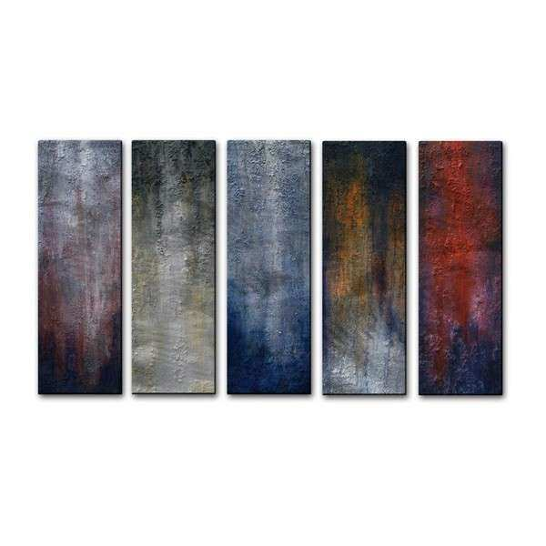 Skye Taylor 5 Days in Chicago 5 piece Metal Wall Art Set