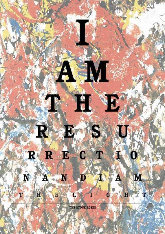 I Am The Resurrection 10 x 8 Wall Art Print The Stone