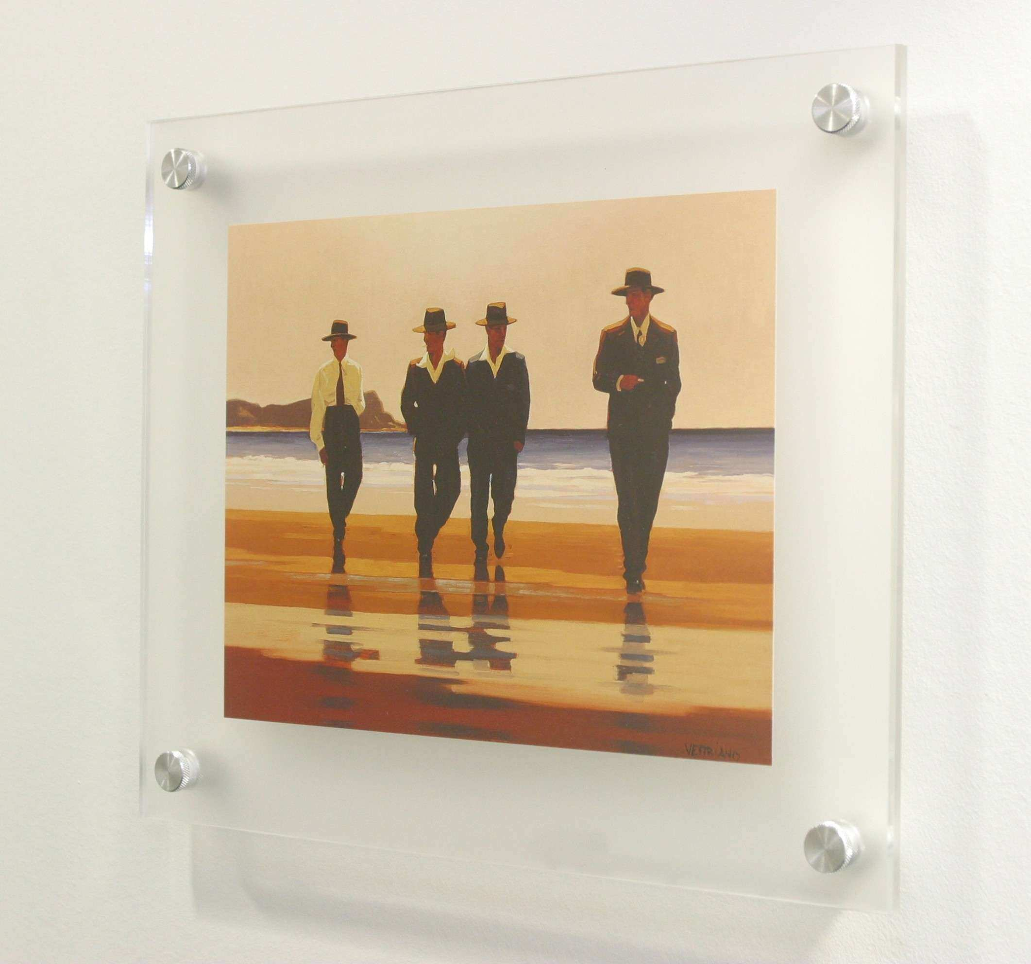 Wall mounted acrylic poster holder